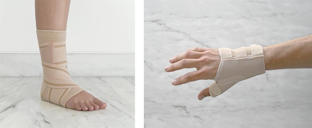 Produtos ortopédicos para protecção de de lesões